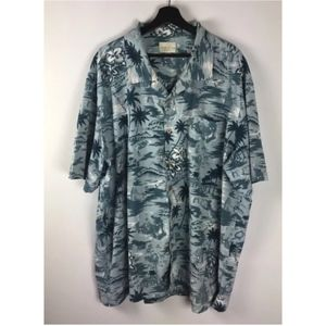 Trader Bay Hawaiian Button Front Shirt XXL